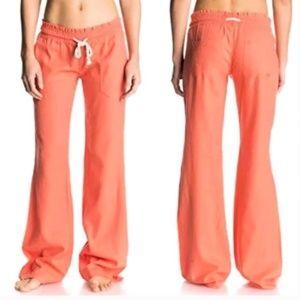NWT Roxy Oceanside Drawstring Linen Pants